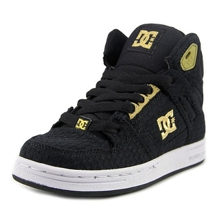 DC Shoes Rebound TX SE Youth  Round Toe Canvas Black Skate Shoe
