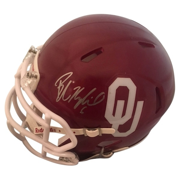quality design 62378 c3bc4 Shop Baker Mayfield Autographed Heisman Oklahoma Signed Mini ...