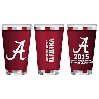 Alabama Crimson Tide 2015 National Championship Sublimated Pint Glass