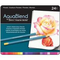 Florals - Spectrum Noir Aquablend Pencils 24/Pkg