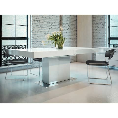 Astor Dining Table in Glossy White