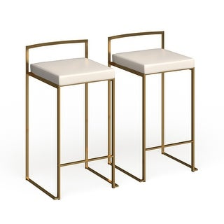 Link to Silver Orchid Forrest Gold Stackable Counter Stool (Set of 2) - N/A Similar Items in Dining Room & Bar Furniture