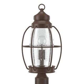 "Park Harbor PHEL2903 West Rock 20"" Tall 1-Light Outdoor Post Light - Chocolate Bronze - N/A"