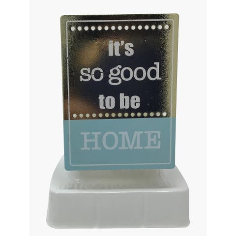 Common Scents Home Fragrance Electric Aromatherapy Oil Warmer, Led - Good To Be Home, Brown/Blue