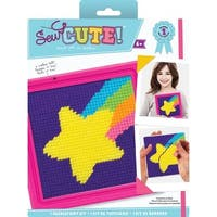 """6""""X6"""" Stitched In Yarn - Sew Cute! Shooting Star Needlepoint Kit"""