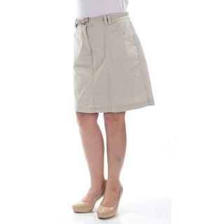 KAREN SCOTT $43 Womens New 1453 Beige Pencil Casual Skirt 8 B+B