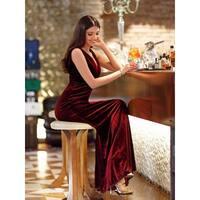 Ever-Pretty Women's V-Neck Velvet Wedding Party Formal Evening Dress 07182