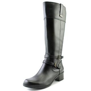 Bandolino Carlotta Wide Calf Women Round Toe Leather Knee High Boot