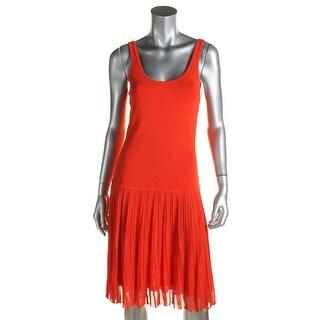 Lauren Ralph Lauren Womens Casual Dress Sleeveless Drop Waist
