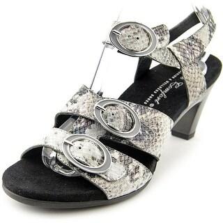 Helle Comfort Eliza Women Open-Toe Leather Slingback Heel