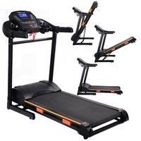 Costway 1000W Folding Electric Treadmill Motorized Power Treadmill Portable Running Gym Fitness Machine