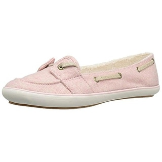 Keds Womens Teacup Boat Fashion Sneakers Casual Faux Fur