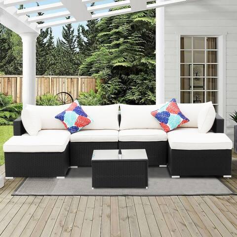 Ainfox Rattan 7-piece Outdoor Patio Sofa Sectional
