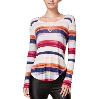 Chelsea Sky Womens T-Shirt Striped Hi-Low (More options available)