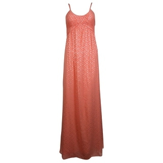 Jessica Simpson Women's Metallic Chiffon Dress