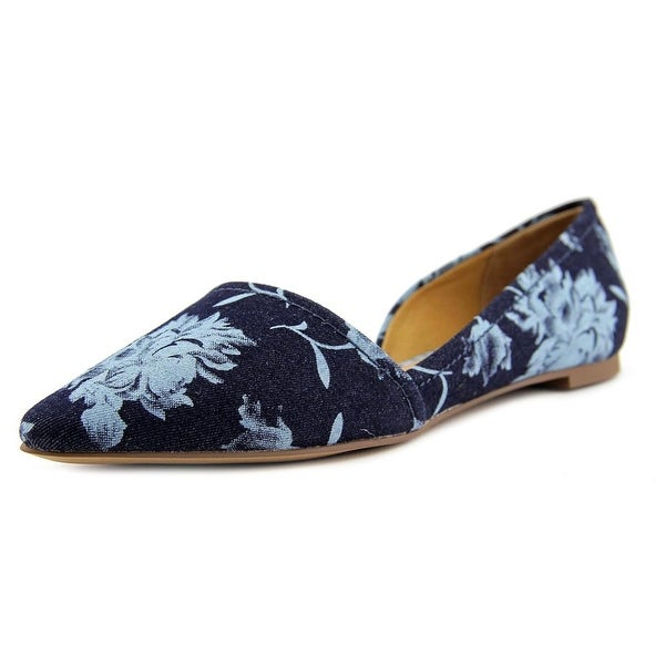 Franco Sarto L-Spiral Women Pointed Toe Canvas Flats