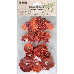 Blood Orange - Floral Mixology Paper Flowers Assorted Sizes 49/Pkg