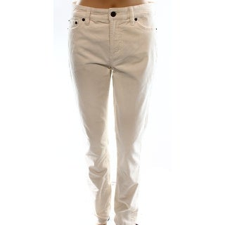Lauren Ralph Lauren NEW White Ivory Women's Size 4X32 Corduroys Pants