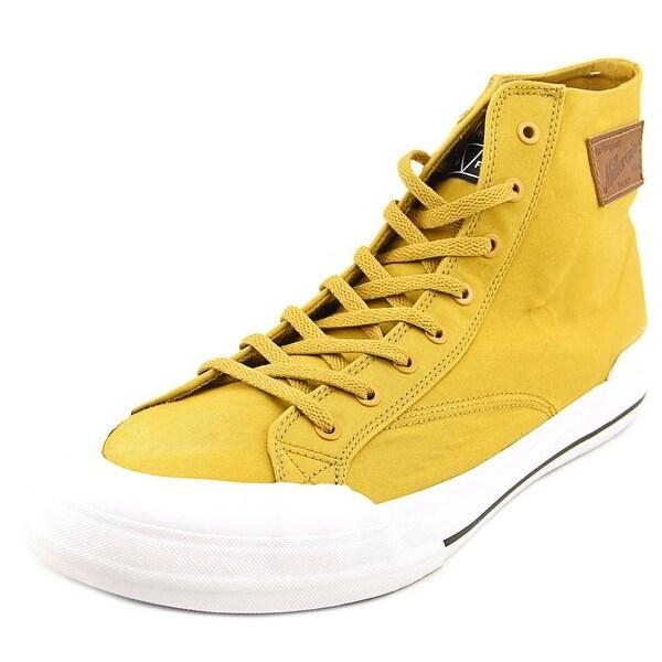 HUF Classic Hi Men Round Toe Canvas Yellow Skate Shoe