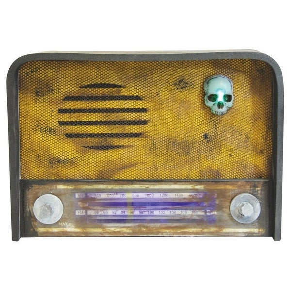 Creepy Radio w/ Sound Halloween Décor