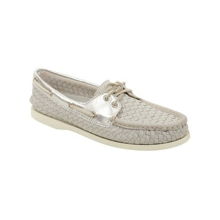 Sperry Womens A/O Woven Boat Shoes in Grey (Option: 5.5)|https://ak1.ostkcdn.com/images/products/is/images/direct/279c54f0d5d908a1cc348c4f0f88bfa0a5d0b6df/Sperry-Womens-A-O-Woven-Boat-Shoes-in-Grey.jpg?impolicy=medium