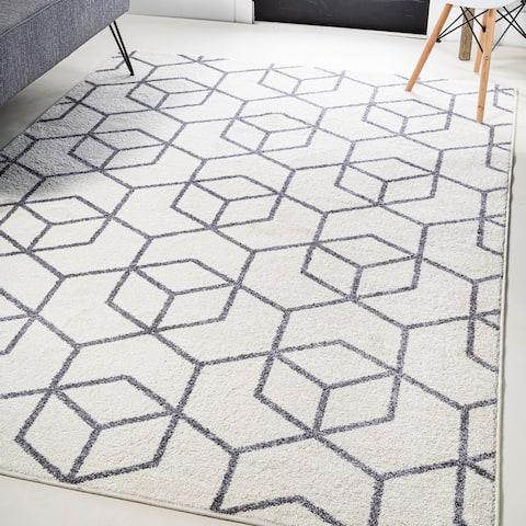 JONATHAN Y Tumbling Blocks Modern Geometric Area Rug
