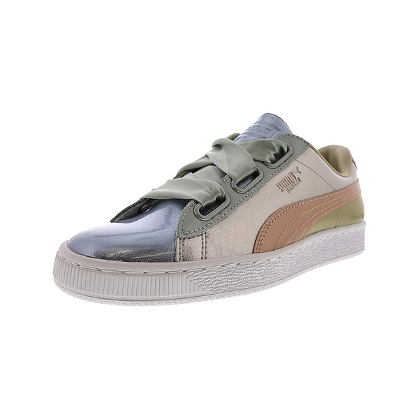 a4d5dddd67a50e Shop Puma Womens Basket Heart Glitter Leather Low Top Lace Up Fashion  Sneakers - Free Shipping On Orders Over  45 - Overstock.com - 27032526