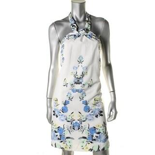 Cynthia Steffe Womens Georgette Floral Prnt Casual Dress