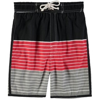 Quad Seven Boys 2T-4T Stripe Swim Trunk