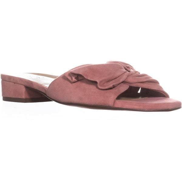 naturalizer Mila Block-Heel Slide Sandals, Peony Pink - 8 w us