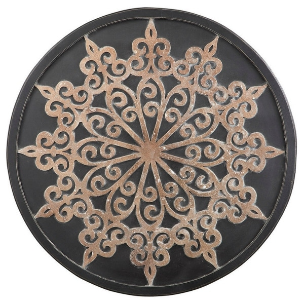 Oenomaus Black-Silver-Gold Finish Wall Decor A8010035 Oenomaus Black-Silver-Gold Finish Wall Decor