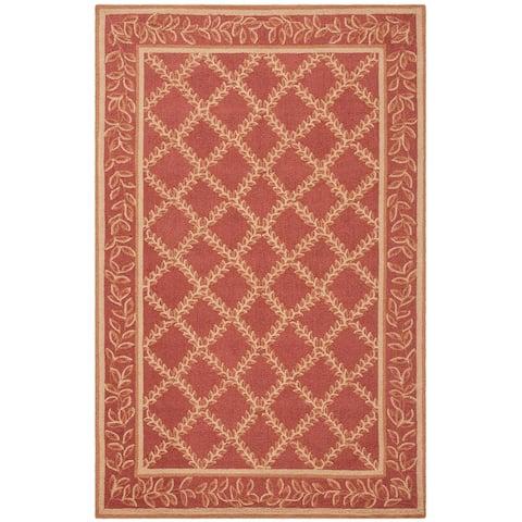 Safavieh Hand-hooked Chelsea Kimber Country Oriental Trellis Wool Rug