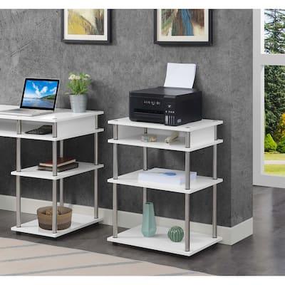 Porch & Den Japonica No Tools Printer Stand with Shelves