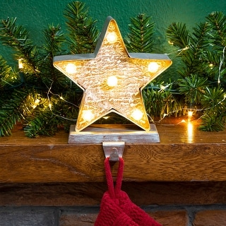 "Link to Glitzhome Christmas LED Stocking Holder - 7.50""h Similar Items in Christmas Decorations"