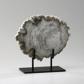 """Cyan Design 2598 11.5"""" Small Petrified Wood On Stand - Oak"""