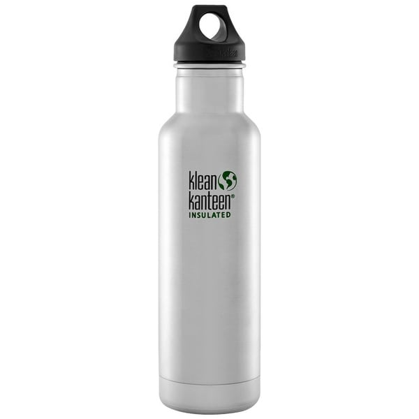 Klean Kanteen Classic Insulated 20 oz. Bottle with Loop Cap - Brushed Stainless - Brushed Stainless