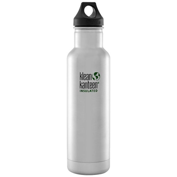 c9f711a972 Klean Kanteen Classic Insulated 20 oz. Bottle with Loop Cap - Brushed  Stainless - Brushed