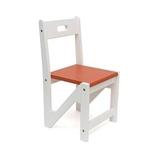 Lipper 505-20R Kids Zig Zag Stacking Chairs - Saffron, Pack of 2
