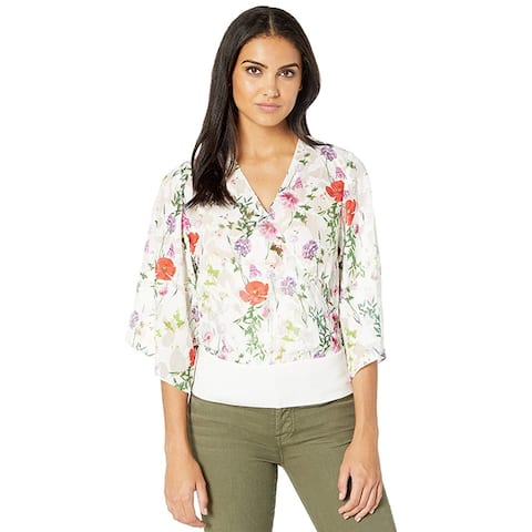 Ted Baker Myyah Hedgerow Kimono Top White Floral