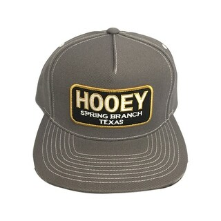 HOOey Hat Mens Baseball HOOey Texas Patch One Size Gray