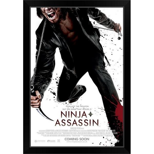"""Ninja Assassin - Movie Poster - UK"" Black Framed Print"