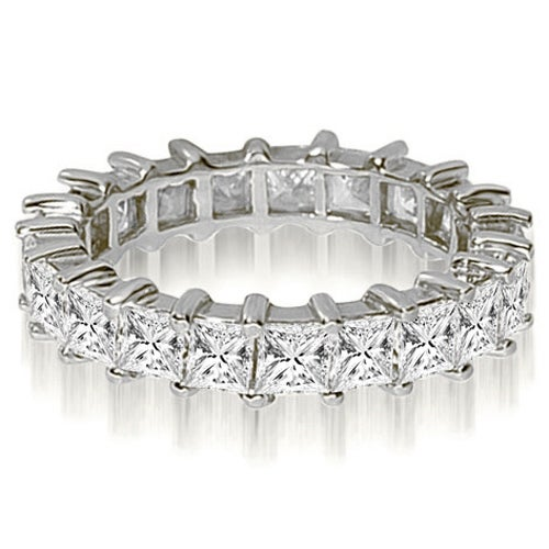 2.50 cttw. 14K White Gold Princess Shared-Prong Diamond Eternity Ring,HI,SI1-2