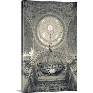 Premium Thick-Wrap Canvas entitled A chandelier at a church, Vilnius, Lithuania