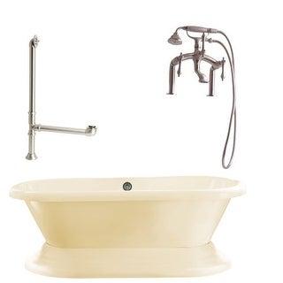 "Giagni LW3 Wescott 70-4/5"" Free Standing Soaking Tub Package - Includes Tub, Tub"