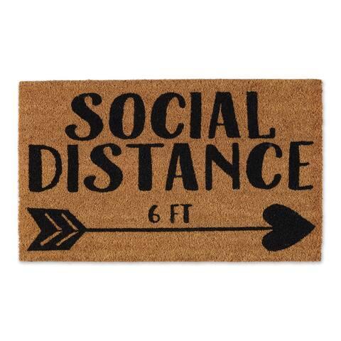 DII Social Distance 6ft Doormat - 2' x 3'