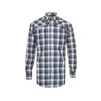 Miller Ranch Western Shirt Mens L/S Plaid Button White