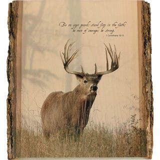 Legendary Whitetails Natural Wood Wall Art - Brown|https://ak1.ostkcdn.com/images/products/is/images/direct/27a4f60ba74dfbced6a3f290ce4be9631223269f/Legendary-Whitetails-Natural-Wood-Bible-Verse-Buck-Wall-Art.jpg?impolicy=medium