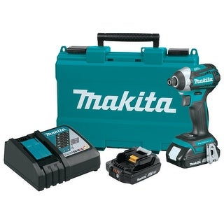 Makita 18V LXT Lithium-Ion Compact Brushless Cordless 3-Speed Impact Driver Kit - TEAL