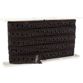 """Chocolate - Simplicity Woven Leather Braid 1-1/4""""X12yd"""