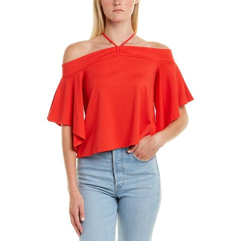 Bcbgmaxazria Off-The-Shoulder Crop Top